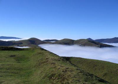 Collado de Lindus entre nieblas