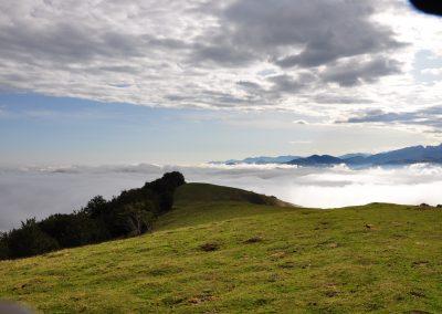 Niebla baja en Organbidexka
