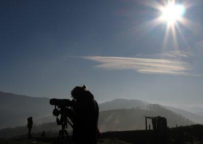Observadora en día soleado