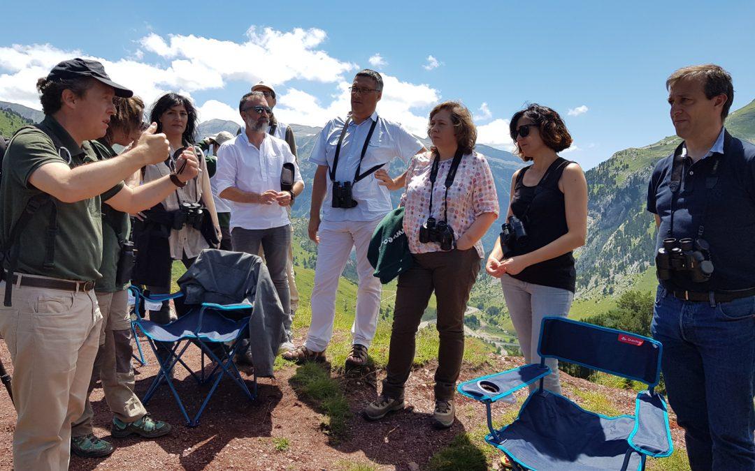Réunion des associés du Projet Lindus 2 au Laboratoire souterrain de Canfranc (Huesca)